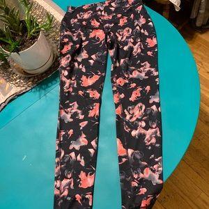 Danskin full length black and pink leggings S